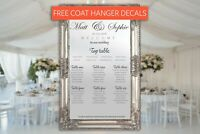 Full Length Mirror Wedding Table Seating Plan • Vinyl lettering/Vinyl Stickers