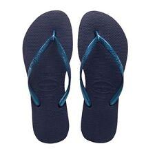 Sandali e scarpe slim blu per il mare da donna