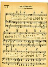 """VTG PENN STATE UNIVERSITY song sheet """"THE NITTANY LION"""" c 1929 - PENNSYLVANIA"""