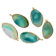 5 Pieces Agate Slices Pendants Crystals Geode Stones Pendant Jewelry Making Charms 2-3 inch Purple 50-80 mm