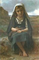 Chrome Postcard B461 The Shepherdess Bouguerau Frye Art Museum Seattle WA