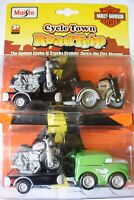 MAISTO CYCLE TOWN ROAD TRIP TOY SET 15018 HARLEY DAVIDSON CYCLES AND TRUCKS
