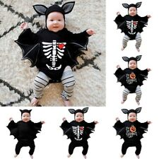 Newborn Baby Boy Girl Halloween Cosplay Costume Romper Jumpsuits+Hat Outfits Set