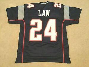 UNSIGNED CUSTOM Sewn Stitched Ty Law Blue Jersey - M, L, XL, 2XL