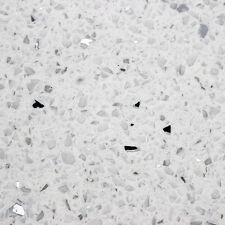 Polished Diamond White Quartz Tiles With Sparkling Mirror Pieces - SAMPLE