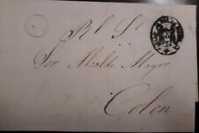 O) CARIBE, PREPHILATELY - PRESTAMP.- OFFICIAL CANCELLATION, TO COLON, XF