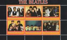 "THE BEATLES JOHN LENNON PAUL MCCARTNEY TCHAD 2014 MNH 5.5"" x 3.5"" STAMP SHEETLET"