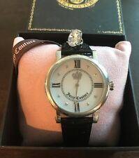 Juicy Couture Timepieces Watch Black Patent Leather New In Box Retail $195