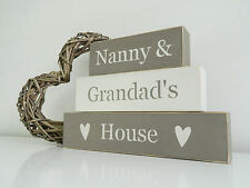 Nanny & Grandad's House, Stacking Blocks, Shabby Chic, painted in Annie Sloan