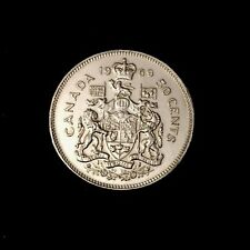 1969 - Canadian Nickel Half Dollar 50 Cent Coin - Canada