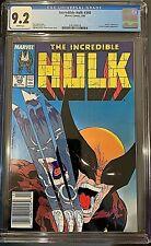 Incredible Hulk # 340 CGC graded 9.2 Hulk vs. Wolverine Classic McFarlane Cover