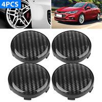 4Pcs Universal Chrome Car Wheel Center Caps Replace Rim Hub Cover ABS Black 60mm