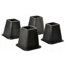 """4 Bed Risers Furniture Riser, bed lifts in Height of 5"""" to 6"""". Heavy Duty Black"""