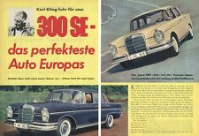 MERCEDES-BENZ 300 SE/W 112 Berline/Karl ça-Original test de 1961