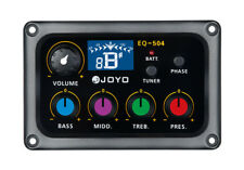 JOYO EQ-504 4 Band EQ Equalizer Acoustic Guitar Pickup Digital Tuning Function