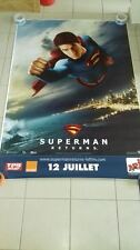 AFFICHE SUPERMAN RETURNS 4x6 ft Bus Shelter D/S Movie Poster Original 2006