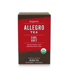 Allegro Organic Tea Earl Grey 20 Tea Bags 1.4 oz. Pack of 6