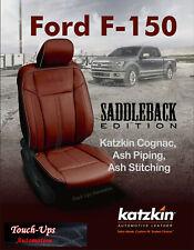 2015-20 Ford F-150 XLT SuperCrew KATZKIN Leather Seat Covers Saddleback Edition