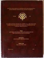 La Coleccion de Concha del Genero Oliva del Museo del Templo Mayor Mexico Thesis