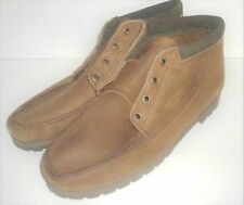 LL BEAN Mens Size 10 M Chukka Boots Suede Leather Ankle Vibrom Gumlite Sole