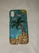 Palm Tree  Crystal BLING BACK CASE FOR IPHONE X 10 made w/ SWAROVSKI CRYSTALS