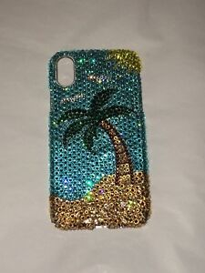 Palm Tree Crystal BLING BACK CASE FOR IPHONE XS MAX Made with SWAROVSKI Elements