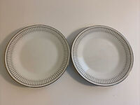 NORITAKE URSULA # 6684 Bread and Butter Plate x 2 - 18cm - Disc 1965-1975 White