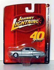 """1950 Oldsmobile Rocket 88 Solid Silver Johnny Lightning 1/64 """"NEW"""" On Hang Card"""