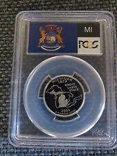 2004-S 25c Michigan SILVER State Flag Label  PCGS PR70 DCAM Quarter