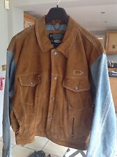 80s MEN SUEDE AND DENIM JACKET SIZE M PEPE CO ORIGINAL QUALITY & STYLE