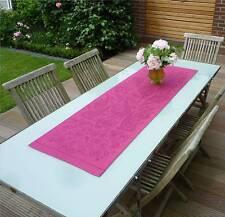 Tischläufer Jacquard Leinen 50x150 cm pflaume mit Paisleymotiven