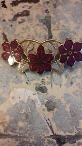 Vintage art nouveau style cloisonne brooch