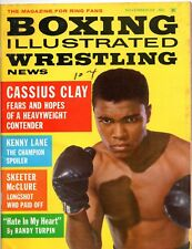BOXING ILLUSTRATED & WRESTLING NEWS Nov 1962 CASSIUS CLAY MUHAMMAD ALI Magazine