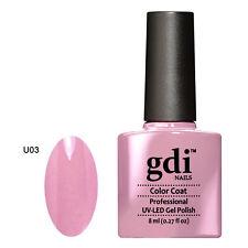 GDI NAILS - U03 WARM ROSY PINK - SUBTLE NUDE - UV LED GEL NAIL POLISH VARNISH