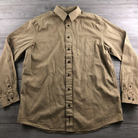 Eddie Bauer Button Up Shirt Mens Large Tall Tan Long Sleeve