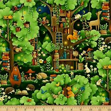 Forest Fables Fabric Fat Quarter Cotton Craft Quilting Kids