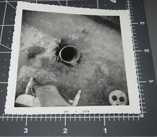 Abstract CAMERA Aimed @ PIPE Men Construction Work Ground Vintage Snapshot PHOTO
