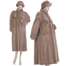 LKNW! XL-XXL! Golden Whiskey Sheared/Unsheared Mink Fur Swing Coat w/Free Hat