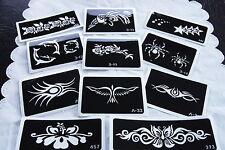 Body Art Glitter Tattoo Stencil Air Brush - Temporary tattoos - Bulk Lot of 15
