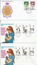 NEW ZEALAND HEALTH FDC 1951, 1973-1985 VARIOUS.