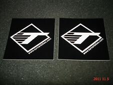 2 AUTHENTIC TURNER BICYCLES BLACK STICKERS / DECALS / AUFKLEBER