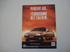 advertising Pubblicità 1988 PEUGEOT 405
