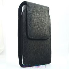 Leather Case Pouch for Samsung Galaxy S6 Belt-Clip with Rotating Swivel Holster