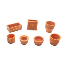 7pcs/set 1 12 Miniature Bonsai Flower Pot Dollhouse Fairy Garden Decor Accessory
