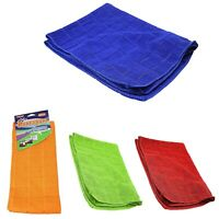2xNew Microfibre Assorted Colour Cleaning Cloths 40 x 60cm 0906