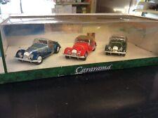 Cararama STUNNING Set of 3 Morgan Convertibles Blue Red Green 1:43 MIB