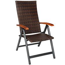 Sillón de aluminio y rotan múltiples posiciones silla jardín terraza plegable