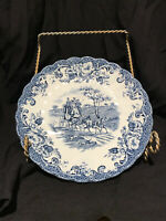 VINTAGE BLUE COACHING SCENES IRONSTONE SAUCER JOHNSON BROS Hunting Country