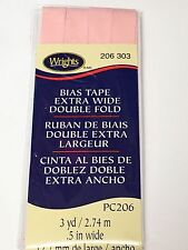 Wrights Extra Wide Double Fold Bias Tape Pc206 0303 Light Pink
