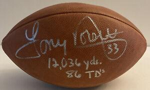 Tony Dorsett Signed Stat Football Inscribed JSA Certifed Dallas Cowboys Auto